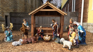 Nativity Scene on Front Lawn at Lake of the Isles